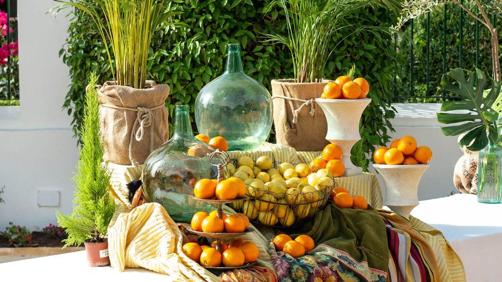 frutas en la decoracion de bodas