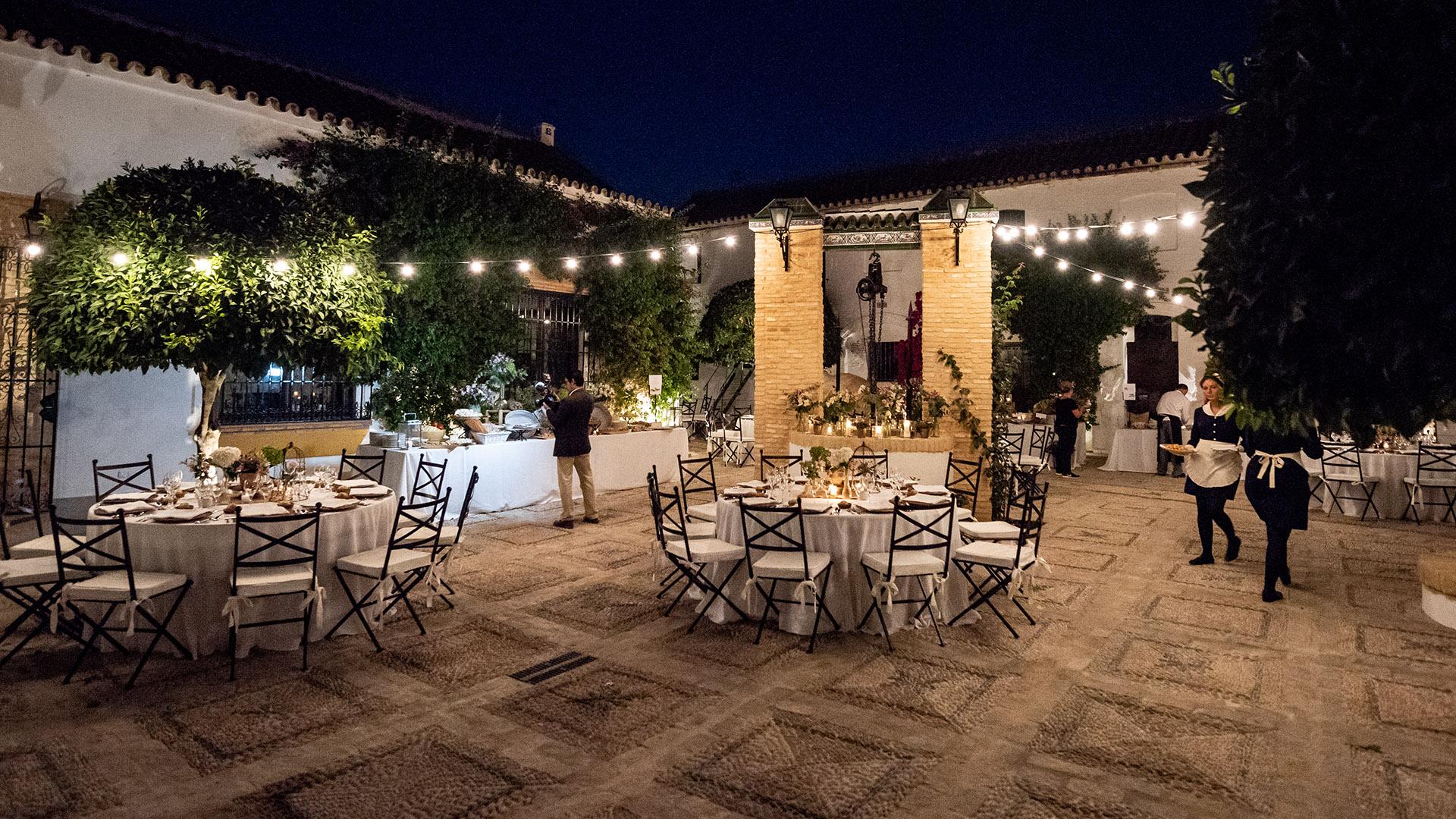 catering para una boda exterior